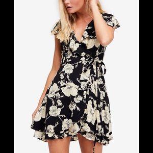 Free People Floral Wrap Dress